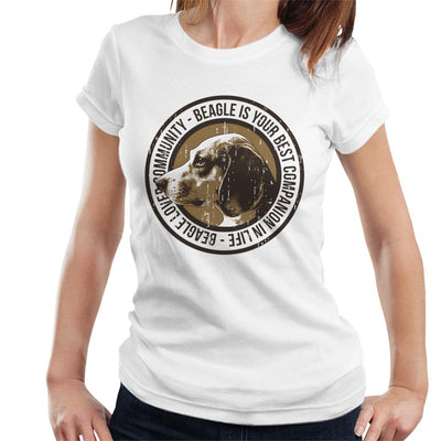 Beagle Lovers Community Badge Women's T-Shirt - coto7