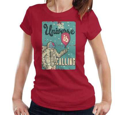 The Universe Is Calling Astronaut Balloon Women's T-Shirt - coto7