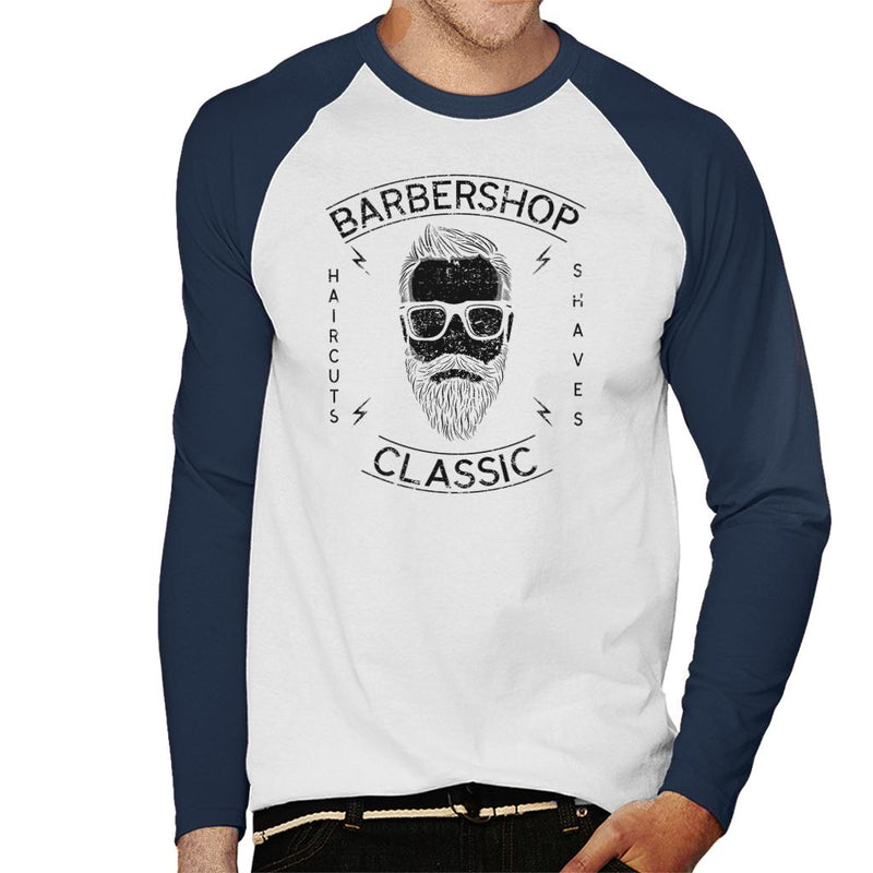 Barbershop Classic Haircuts Men's Baseball Long Sleeved T-Shirt - coto7