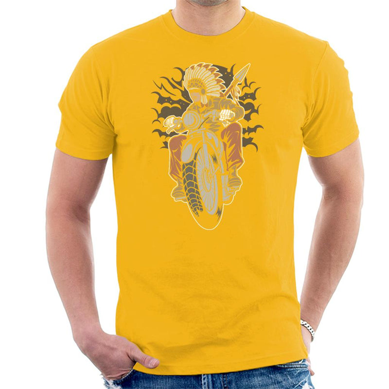 Indian Native Biker Men's T-Shirt - coto7