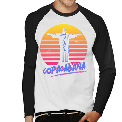 Copacabana With Statue Men's Baseball Long Sleeved T-Shirt - coto7