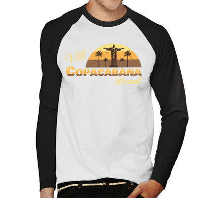 Visit Copacabana Brazil Men's Baseball Long Sleeved T-Shirt - coto7