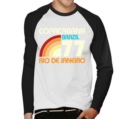 Copacabana Brazil 77 Men's Baseball Long Sleeved T-Shirt - coto7