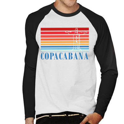 Copacabana Stripes And Statue Men's Baseball Long Sleeved T-Shirt - coto7