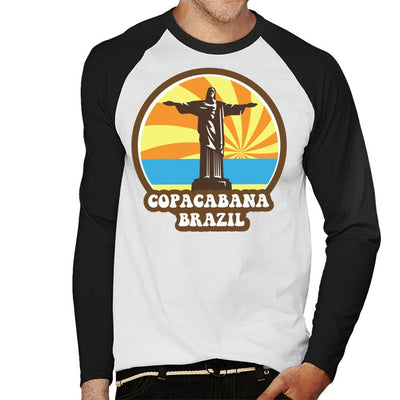 Copacabana Brazil 70s Style Men's Baseball Long Sleeved T-Shirt - coto7