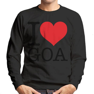 Beach Destinations I Love Goa Men's Sweatshirt - coto7