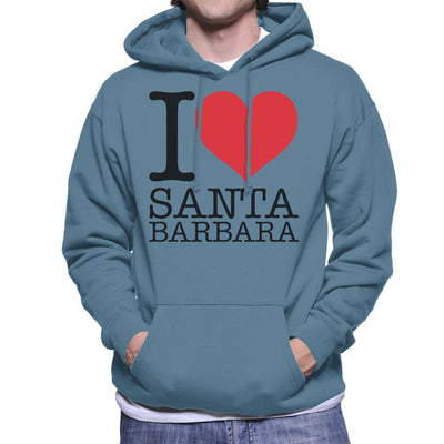 I Love Santa Barbara Men's Hooded Sweatshirt - coto7