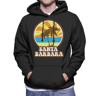Santa Barbara Retro Sunset Men's Hooded Sweatshirt - coto7