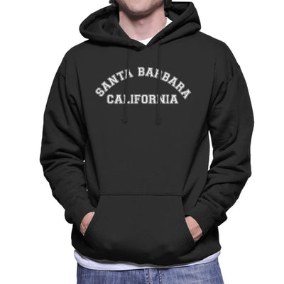 Santa Barbara College Text Men's Hooded Sweatshirt - coto7