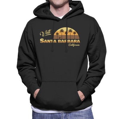 Visit Santa Barbara Retro California Men's Hooded Sweatshirt - coto7