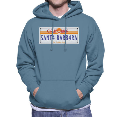 Santa Barbara California License Plate Men's Hooded Sweatshirt - coto7