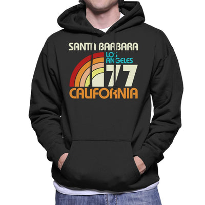 Santa Barbara Retro 77 Men's Hooded Sweatshirt - coto7