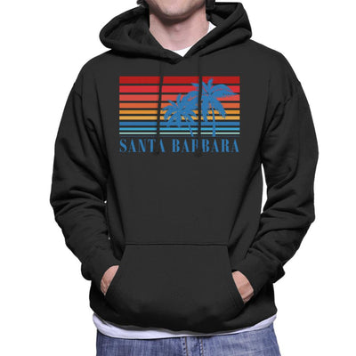 Santa Barbara Retro 70s Sunset Men's Hooded Sweatshirt - coto7