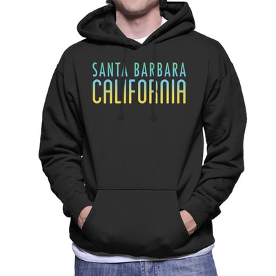 Santa Barbara Sunny Sky Text Men's Hooded Sweatshirt - coto7