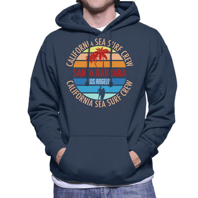 Santa Barbara California Sea Surf Crew Men's Hooded Sweatshirt - coto7