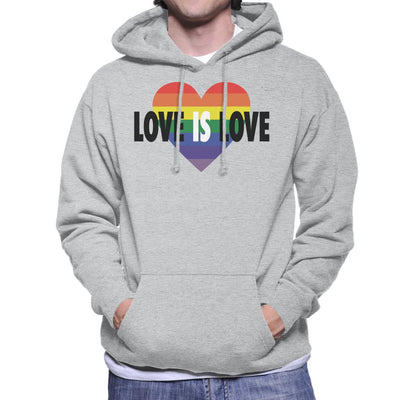 Pride Heart Love Is Love Men's Hooded Sweatshirt - coto7