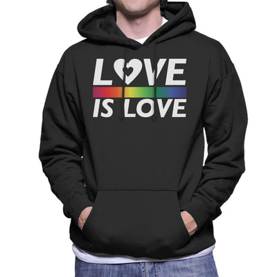 Pride Love Is Love Men's Hooded Sweatshirt - coto7