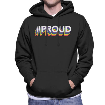 Pride Hastag Proud Men's Hooded Sweatshirt - coto7
