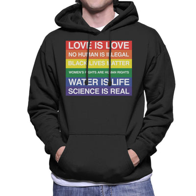 Pride Love And Rights Men's Hooded Sweatshirt - coto7