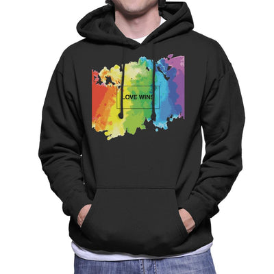 Pride Love Wins Men's Hooded Sweatshirt - coto7