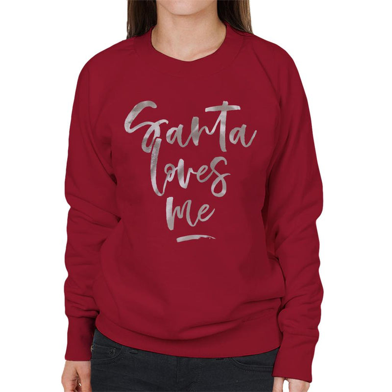 Santa Loves Me Christmas Women's Sweatshirt - coto7