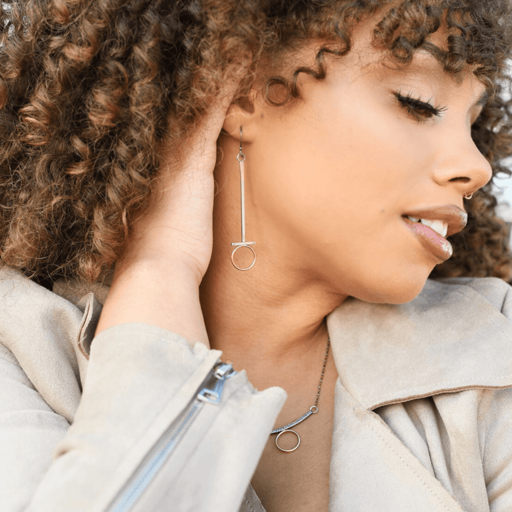 Line & Form Drop Earrings - Peterson MADE