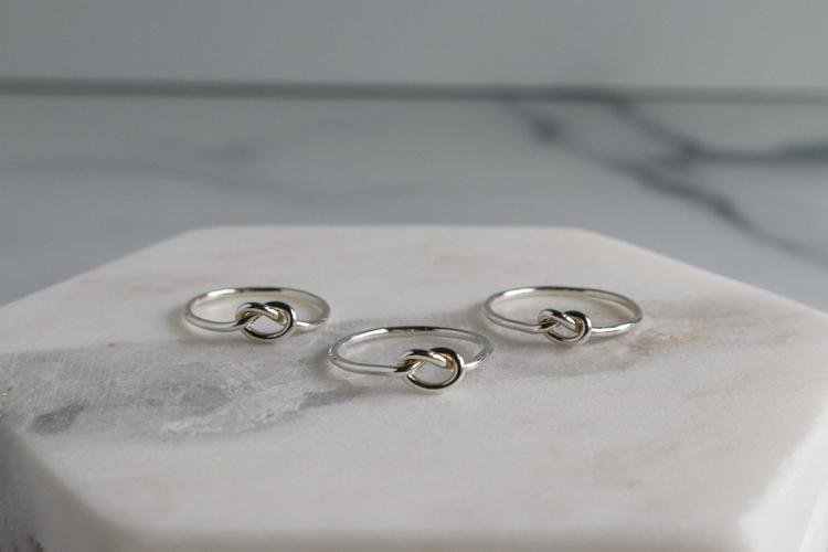 Love Knot Ring - Sterling Silver & Gold - Peterson MADE