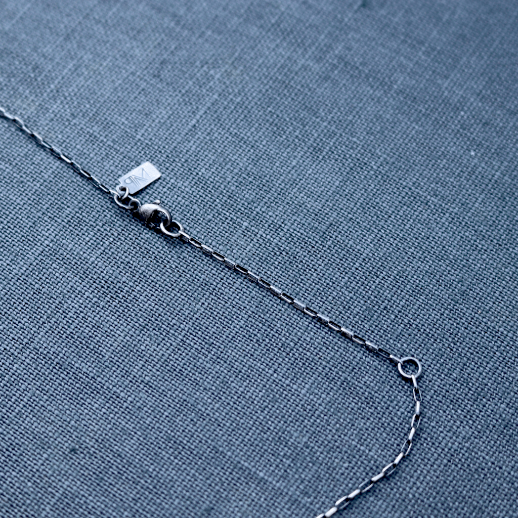 Mixed Metal Bar Necklace & Rose Cut Diamond - Peterson MADE