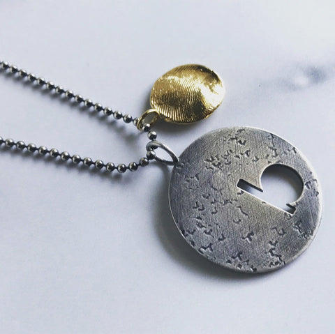 Modern Initial Medallion Necklace - Peterson MADE
