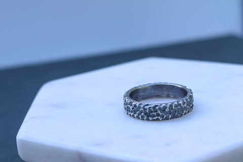 Rugged Passage. Sterling Silver Mens Ring - Peterson MADE