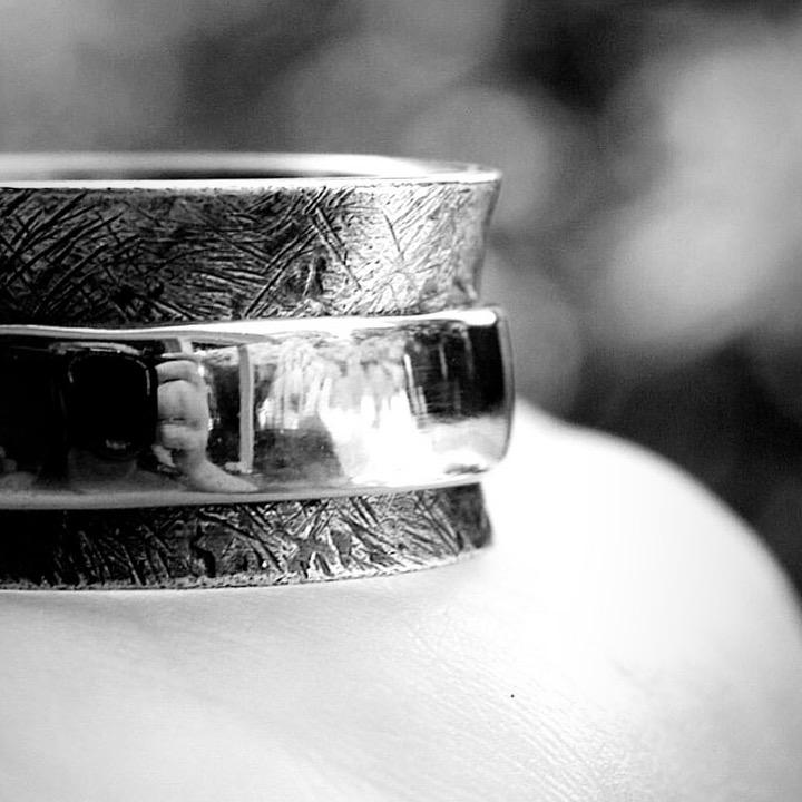 Sterling Silver Cable Fidget Ring - Gender Neutral - Peterson MADE