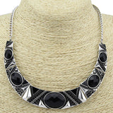 Black Resin Bead Choker