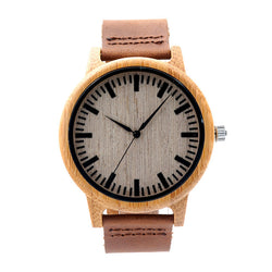 Men's Analog Bamboo Wood Watches