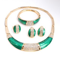 Women's Nigeria Gold Plated Jewelry Necklace Set