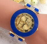 New Fashion  Gold Geneva Casual Watches