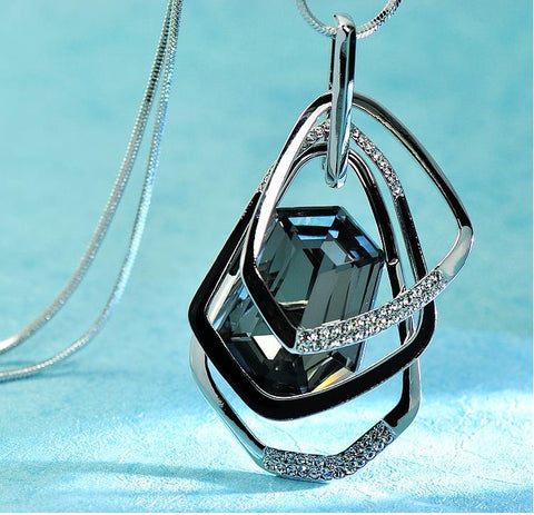 Women Crystal Pendant Necklaces Section