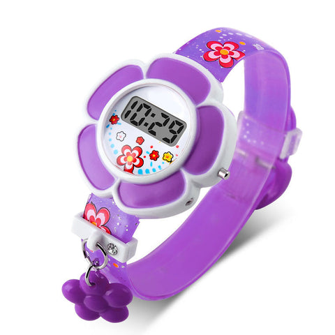 Girls's Cartoon Silicone Digital Wristwatch