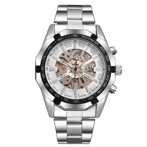 Mens Automatic Mechanical Skeleton Wrist Watch