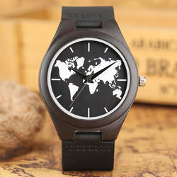 Men's Nature Ebony Wood Quartz Watches