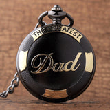 The Greatest Dad  Black Golden Luxury Pocket Watch