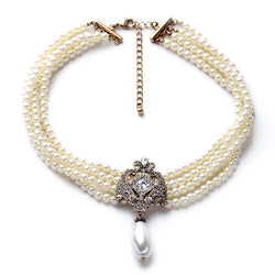Romantic Simulated Pearl Necklace