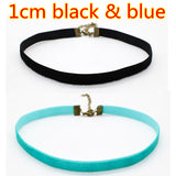 2 Pc  Punk Black Velvet Chokers