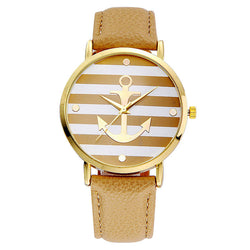 Women's Imitation  Leather Strap Anchor Watches