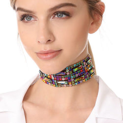 Women's  Bohemian Fashion Glass Crystal Chokers