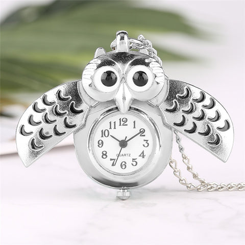 Fashion Silver Slide Smart Owl Necklace
