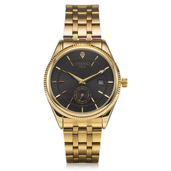 Men's Gold Calendar Quartz Watches