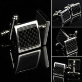 Men's Stainless Steel Black Cuff Links