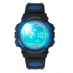 Boys Multifunction Digital  LED  Sports Light Watches