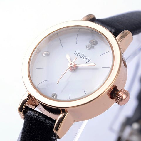 Mini Ladies ultra thin Rhinestone Watches