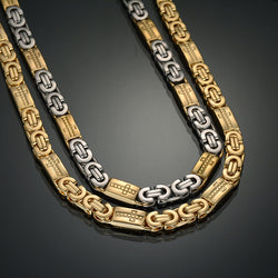 Fashion Statement Silver Gold Byzantine Necklaces